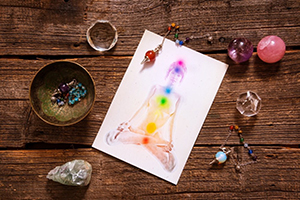 Image of chakras on paper